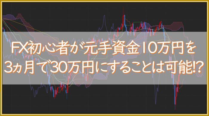 【成果報告】FX初心者が元手10万円で3ヵ月間トレードした結果:利益率○○倍達成!